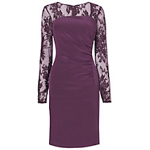 Buy L.K. Bennett Lara Lace Sleeve Dress, Damson Online at johnlewis.com