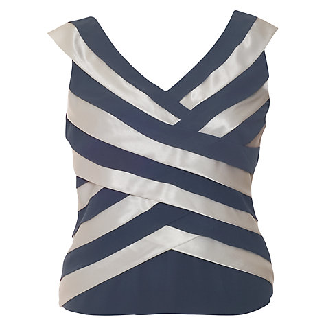 Buy Chesca Bias Strip Top, Charcoal Online at johnlewis.com