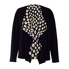 Buy Chesca Spotted Trim Cardigan, Black Online at johnlewis.com