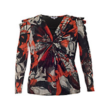 Buy Chesca Crush Printed Fan Top, Cherry/Black Online at johnlewis.com