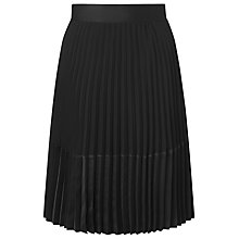 Buy L.K. Bennett Sunray Pleated Skirt, Black Online at johnlewis.com