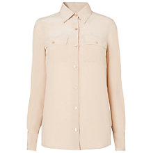 Buy L.K. Bennett Gina Long Sleeve Shirt, Champagne Online at johnlewis.com