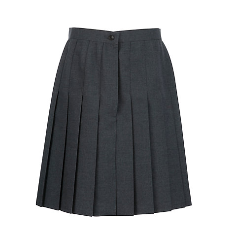buy s school pleat skirt grey lewis