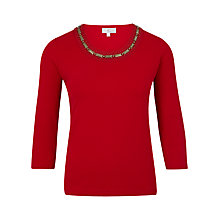 Buy CC Gold Bead Top, Pillarbox Red Online at johnlewis.com