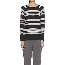 Buy Whistles Raglan Stripe Top, Grey Online at johnlewis.com