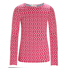 Buy John Lewis Girl Spotted Top, Magenta Online at johnlewis.com