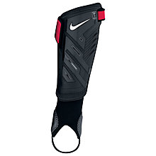 Buy Nike Protegga Shield Shin Guards, Black/Red Online at johnlewis.com