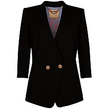 Buy Ted Baker Button Front Blazer, Black Online at johnlewis.com
