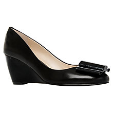 Buy Nine West Letmesee Leather Wedge Court Shoes, Black Online at johnlewis.com