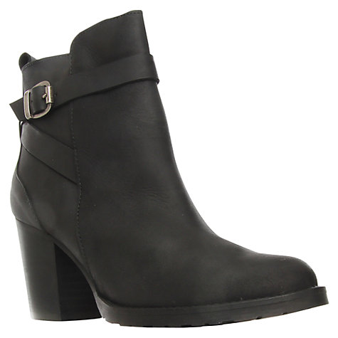 Buy Kurt Geiger Sofie Leather Side Zip Block Heels Ankle Boots Online at johnlewis.com