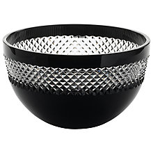 Buy Waterford Crystal John Rocha Black Cut Bowl Online at johnlewis.com