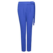 Buy Mango Bow Belt Trousers, Neon Blue Online at johnlewis.com