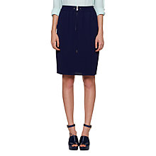 Buy Whistles Sporty Crepe Skirt, Navy Online at johnlewis.com