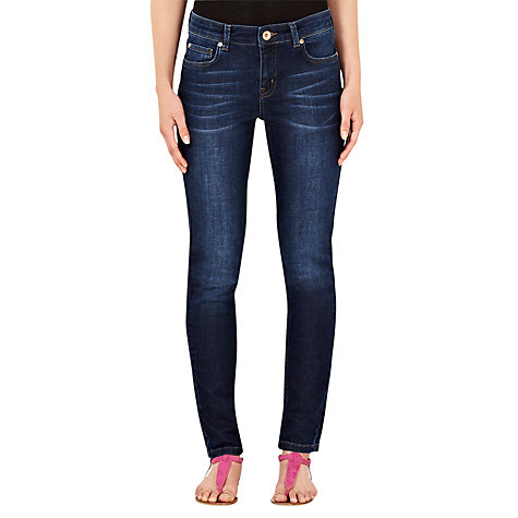 Buy Oasis Casual Cherry Jeans, Denim Blue Online at johnlewis.com
