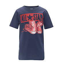 Buy Converse All Star Shoes T-Shirt, Navy Online at johnlewis.com