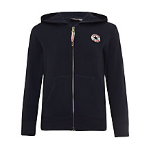 Buy Converse Boys' Chuck Patch Zip-Through Hoodie, Navy Online at johnlewis.com