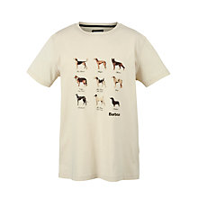 Buy Barbour Dogs T-Shirt, Chalk Online at johnlewis.com