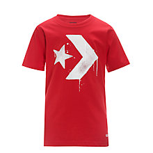 Buy Converse Dripping Star Chevron T-Shirt, Red Online at johnlewis.com