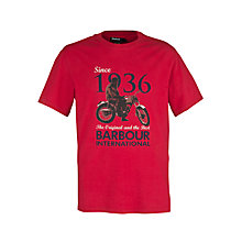 Buy Barbour International Rider T-Shirt, Red Online at johnlewis.com