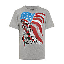 Buy Converse Rubber Sole T-Shirt, Grey Online at johnlewis.com