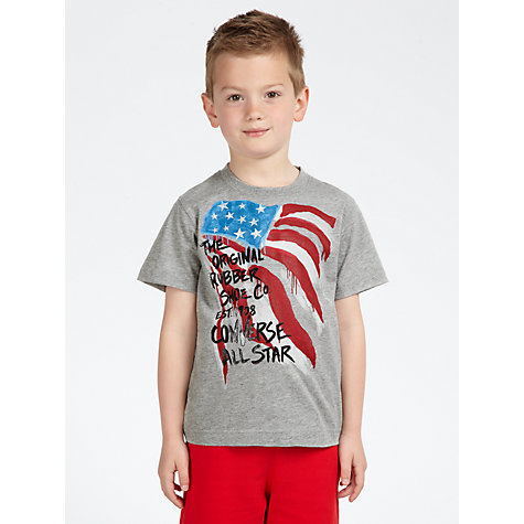 Buy Converse Boys' Rubber Sole T-Shirt, Grey Online at johnlewis.com
