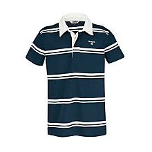 Buy Barbour Boys' Topsham Short Sleeved Polo Shirt, Navy/White Online at johnlewis.com