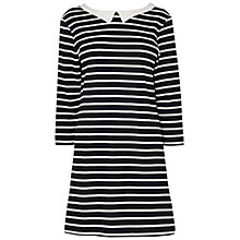 Buy Boutique by Jaeger Sally Stripe Dress, Charcoal Online at johnlewis.com
