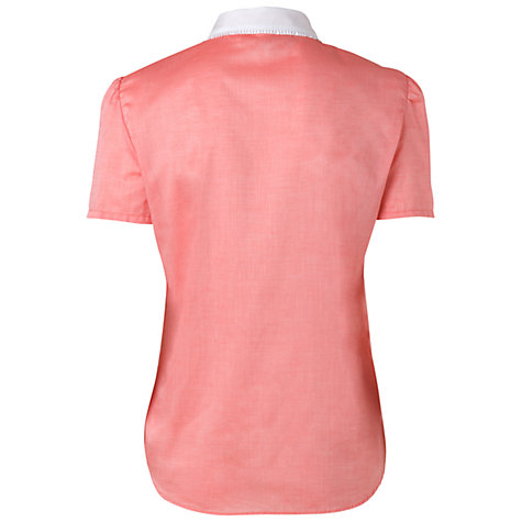 Buy Boutique by Jaeger Thelma Frill Collar Blouse, Coral Online at johnlewis.com
