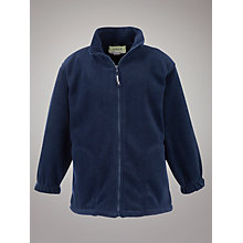 Buy Plain Unisex School Fleece, Navy Online at johnlewis.com