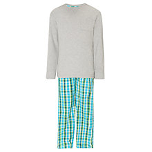 Buy John Lewis Boy Jersey Pyjamas, Grey/Green Online at johnlewis.com