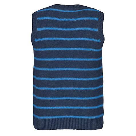 Buy John Lewis Boy V-Neck Breton Tank Top, Blue Online at johnlewis.com