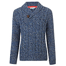 Buy John Lewis Boy Shawl Jumper, Light Blue Online at johnlewis.com