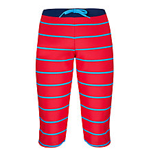 Buy John Lewis Boy Breton Striped Long Swimming Trunks, Red/Blue Online at johnlewis.com