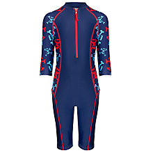 Buy John Lewis Boy Zip-Through Skull Surf Suit, Navy Online at johnlewis.com