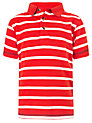 Buy John Lewis Boy Striped Polo Shirt, Red, 2 years Online at johnlewis.com