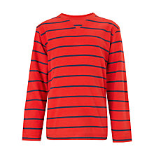 Buy John Lewis Boy Breton Stripe Long Sleeved T-Shirt Online at johnlewis.com