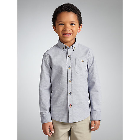 Buy John Lewis Boy Striped Shirt, Blue/White Online at johnlewis.com