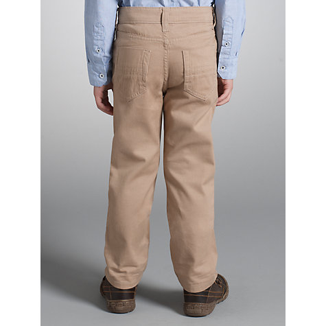 Buy John Lewis Boy Brushed Twill Trousers, Beige Online at johnlewis.com