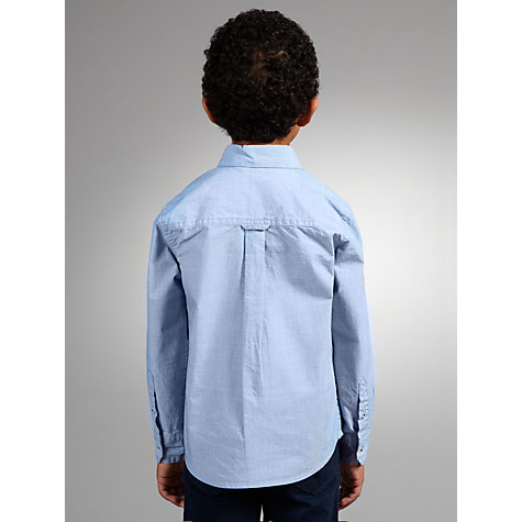 Buy John Lewis Boy End-On-End Long Sleeved Shirt, Blue Online at johnlewis.com