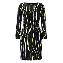 Buy Ghost Clio Jersey Printed Wrap Dress, Lottie Black Print Online at johnlewis.com
