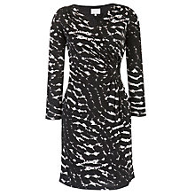 Buy Ghost Clio Jersey Printed Wrap Dress, Animal Print Black Online at johnlewis.com
