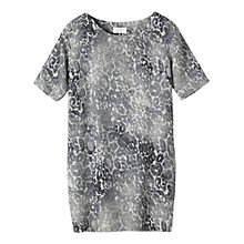 Buy Toast Silk Jacquard Tunic Top, Grey Online at johnlewis.com