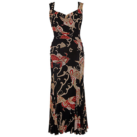 Buy Chesca Butterfly Mesh Dress, Black Online at johnlewis.com
