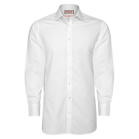 Buy Thomas Pink XL Sleeves Solid Classic Fit Button Cuff Shirt Online at johnlewis.com