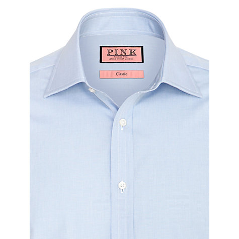 Buy Thomas Pink Houndstooth Long Sleeve Shirt, Blue Online at johnlewis.com