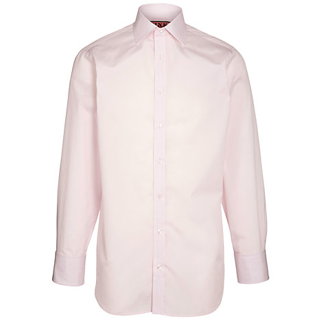Buy Thomas Pink Solid Shirt Long Sleeve Shirt, Pink Online at johnlewis.com