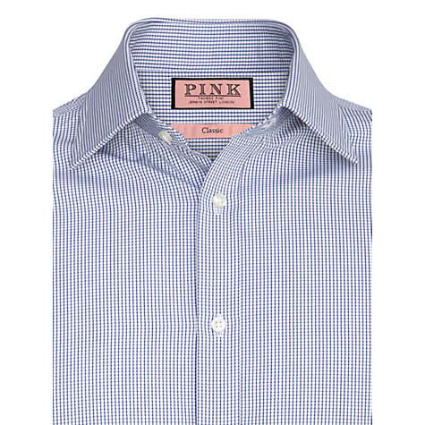 Buy Thomas Pink Vienna Long Sleeve Shirt, Deep Blue Online at johnlewis.com