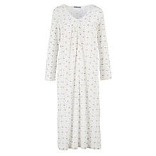Buy John Lewis Lavender Print Nightdress, Ivory/Lavender Online at johnlewis.com