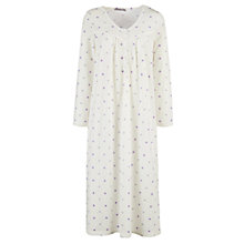 Buy John Lewis Spotted Nightdress, Ivory/Lavender Online at johnlewis.com