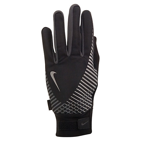 Buy Nike Men's Elite Storm Fit Tech Running Gloves, Black Online at johnlewis.com